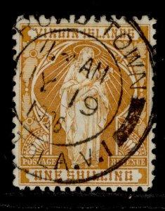 BRITISH VIRGIN ISLANDS QV SG49, 1s brown-yellow, FINE USED. Cat £35. CDS