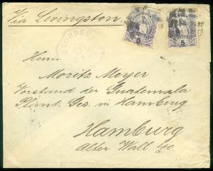 GUATEMALA : 1891 cover to Germany with nice markings.