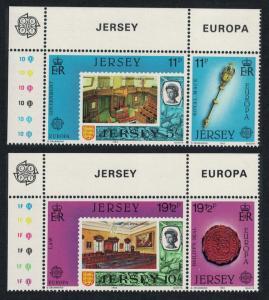 Jersey Europa Great Works of Human Genius 1983 4v Top Left Corner pairs