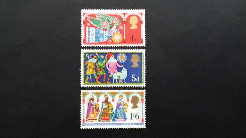 Great Britain -1969 Christmas Stamps Mint