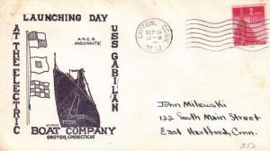 1943, USS Gabilan SS-252, Launching (N5512)