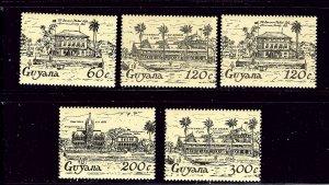 Guyana 918-22 MNH 1955 Houses