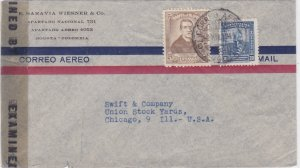 colombia 1944 censor   stamps cover ref r16146