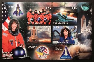 Gambia MNH S/S Space Shuttle Columbia Nasa Commander Laurel Clark 2003