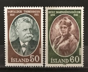 Iceland 1977 #504-5, MNH, CV $1.05