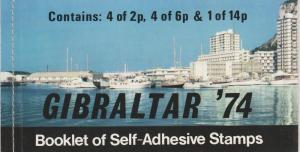 Gibraltar #309a Complete Booklet CV $11.00  (ST2010L)