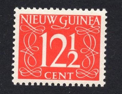 Netherlands  New Guinea  #9  1950  MH numbers 12 1/2 ct