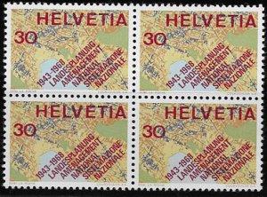 Switzerland, block of four SC 493, MH, OG