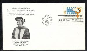 US #1571 Womens Year Eisenhower Philatelic cachet U/A