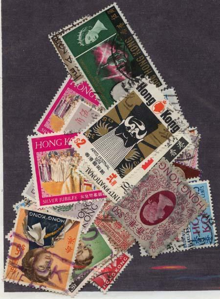 Hong Kong 1912 to 1982 #111/about 403 Used Cat. $60. Most. Diff. F-VF
