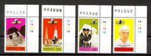 Kenya Scott 501-504 Mint NH (Catalog Value $16.50)