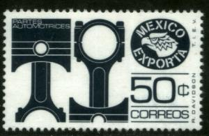 MEXICO EXPORTA 1112a, 50cts AUTO PARTS PAPER 1 SLATE MINT, NH. VF.