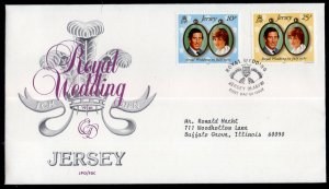 Jersey 280-281 Royal Wedding Typed FDC
