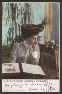 Sweden Sc 58 on 1903 Princess Ingeborg color PPC 2;0