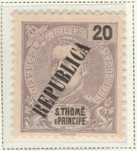 Portugal ST. THOMAS AND PRINCE ISLANDS 1913 20r MH* A5P55F48