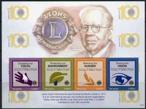 TANZANIA  2017 100th ANNIVERSARY OF THE LIONS CLUB  SHEET  MINT NH
