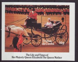 1985 Tristan da Cunha Queen Mother MS U/M