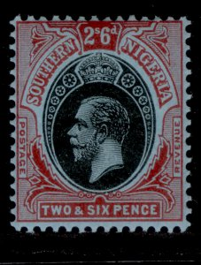 SOUTHERN NIGERIA GV SG53, 2s 6d black and red/blue, LH MINT.