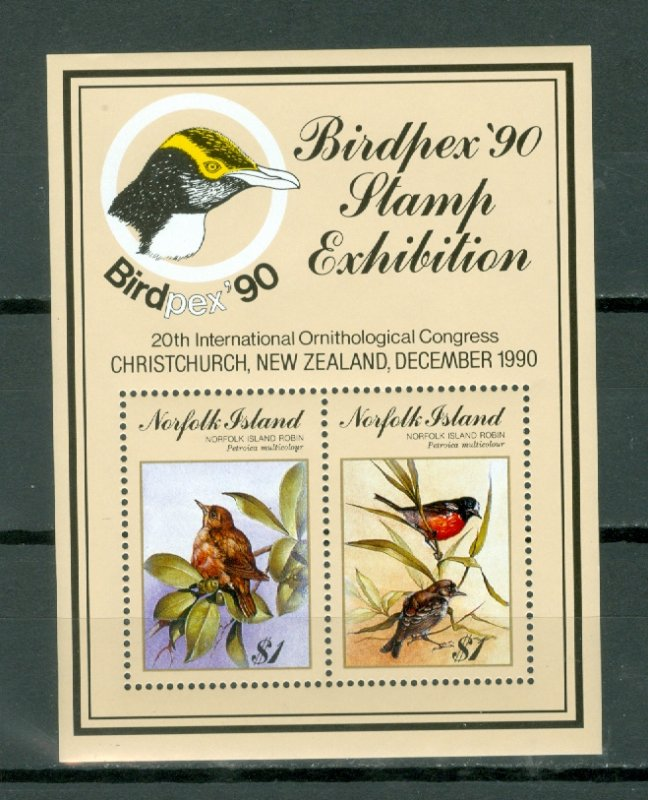 NORFOLK BIRDS #500..SOUV. SHEET...MNH...$7.00