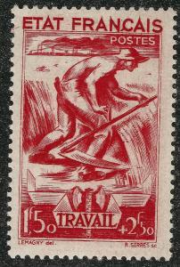 Nice France B154 Mint OG F-VF...French Semi Postals_always popular!