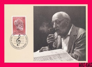 SWITZERLAND 1985 Europa CEPT Music Conductor Bandmaster E.Ansermet Maximum Card