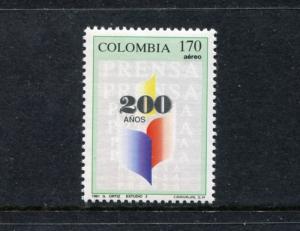 Colombia C837, MNH Newspaper Publishing 1991 x23556