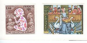 France, 1624-25, Int'l Year of Child / Music, Singles, MNH