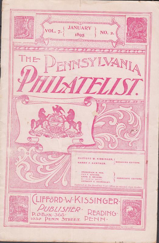The Pennsylvania Philatelist - January 1895 No.2