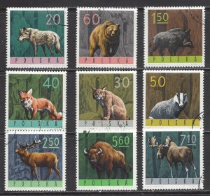 Poland Used Set Of 9 Forest Animals