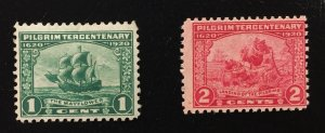 US #548,549 F/VF (MHROG) Mint w/Hinge Remnants Original Gum
