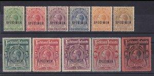 FALKLAND ISLANDS 1912 KGV set ½d to £1 SPECIMEN RARE!