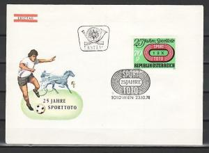 Austria, Scott cat. 1007. Sports Lottery issue. First day cover.