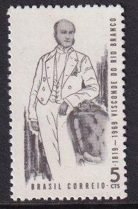 Brazil   #1115   MNH   1969  Viscount of Rio Branco