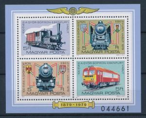 [61267] Hungary 1979  Railway Train Eisenbahn Chermin De Fer  Sheet MNH