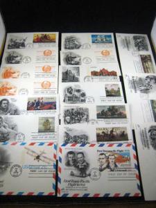 U.S. FDCs - POSTAL CARDS - SET OF 17 - (FG 37)