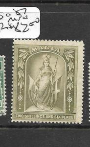 MALTA (P2801B) MELITA 2/6 SG 57  MNH