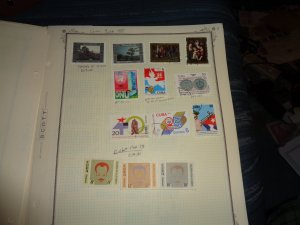 CUBA COLLECTION ON ALBUM PAGES, BOTH MINT AN USED