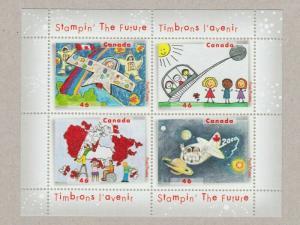 CHILDREN'S DRAWINGS = ART = Souvenir Sheet of 4 = Canada 2000 #1862b MNH VF