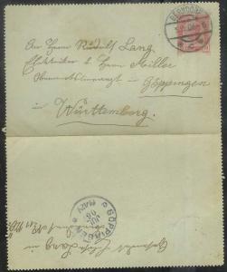 Austria - 1906 folded letter - Berndorf - 5 Jul 06