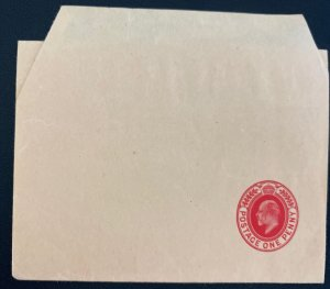 Mint England Wrapper Postal Stationery One Penny Green 1915