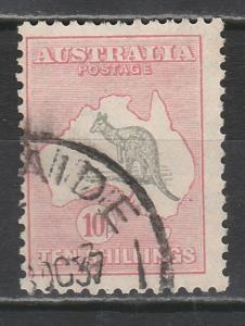 AUSTRALIA 1931 KANGAROO 10/- C OF A WMK USED
