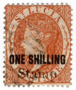 (I.B) St Lucia Revenue : Stamp Duty 1/-