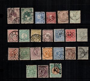 Netherlands  23  diff used and mint cat $ 70.00 lot collection