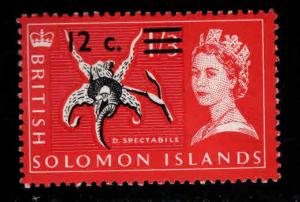 British Solomon Islands Scott 158 MH* surcharged stamp