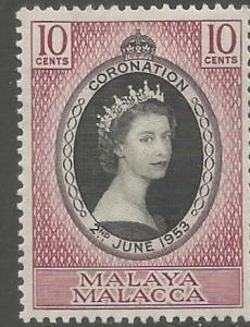 MALAYA  MALACCA, 27,  H, CORONATION