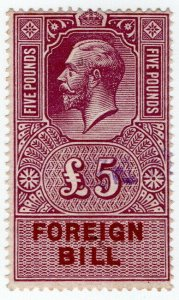 (I.B) George V Revenue : Foreign Bill £5