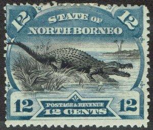 NORTH BORNEO 1894 CROCODILE 12C PERF 14.5-15