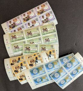 EDW1949SELL : SWAZILAND 1985 Sc #471-74 Rotary Intl 10 Cplt sets  VF MNH Cat $70
