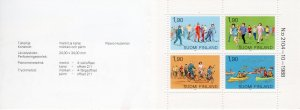 Finland 1989 Sc#793a Cycling-Skiing-Sports Booklet VF Condition