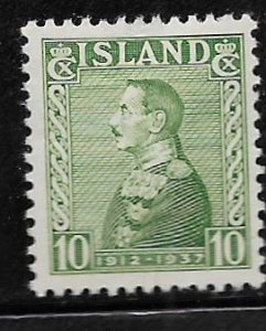 ICELAND 199 HINGED  KING CHRISTIAN X